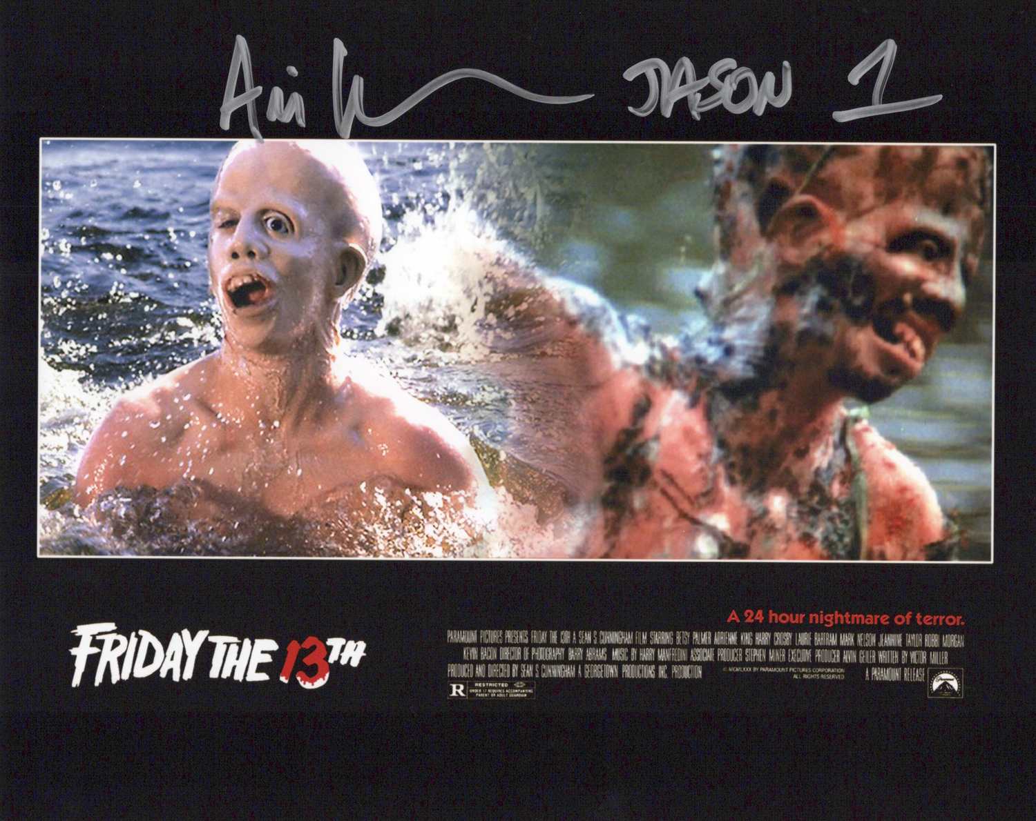 Ari Lehman Original Autogramm auf Foto 20x25cm - Friday 13th