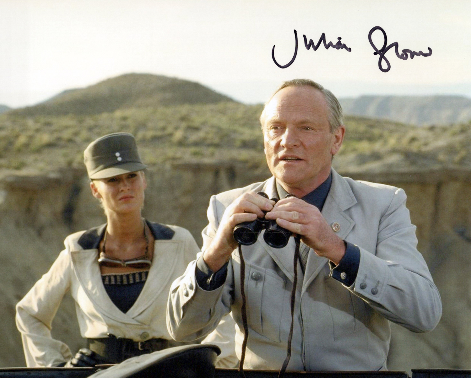 Julian Glover Original Autogramm auf Foto 20x25cm - Indiana Jones