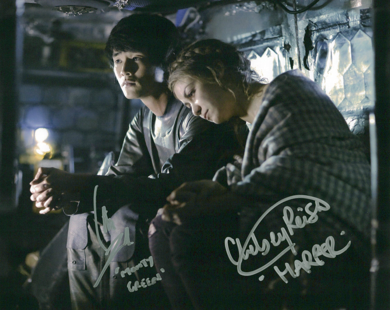Christopher Larkin & Chelsey Reist Original Autogramm auf Foto 20x25cm - The 100