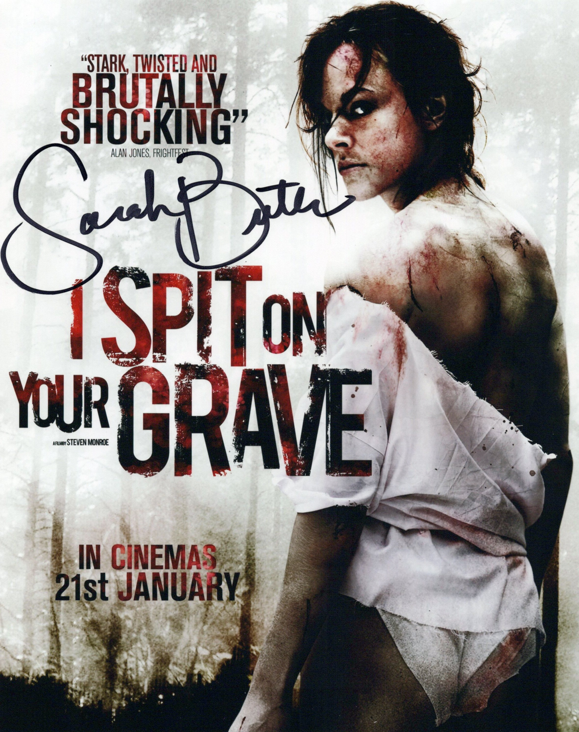 Sarah Butler Original Autogramm auf Foto 20x25cm  - I spit on your Grave