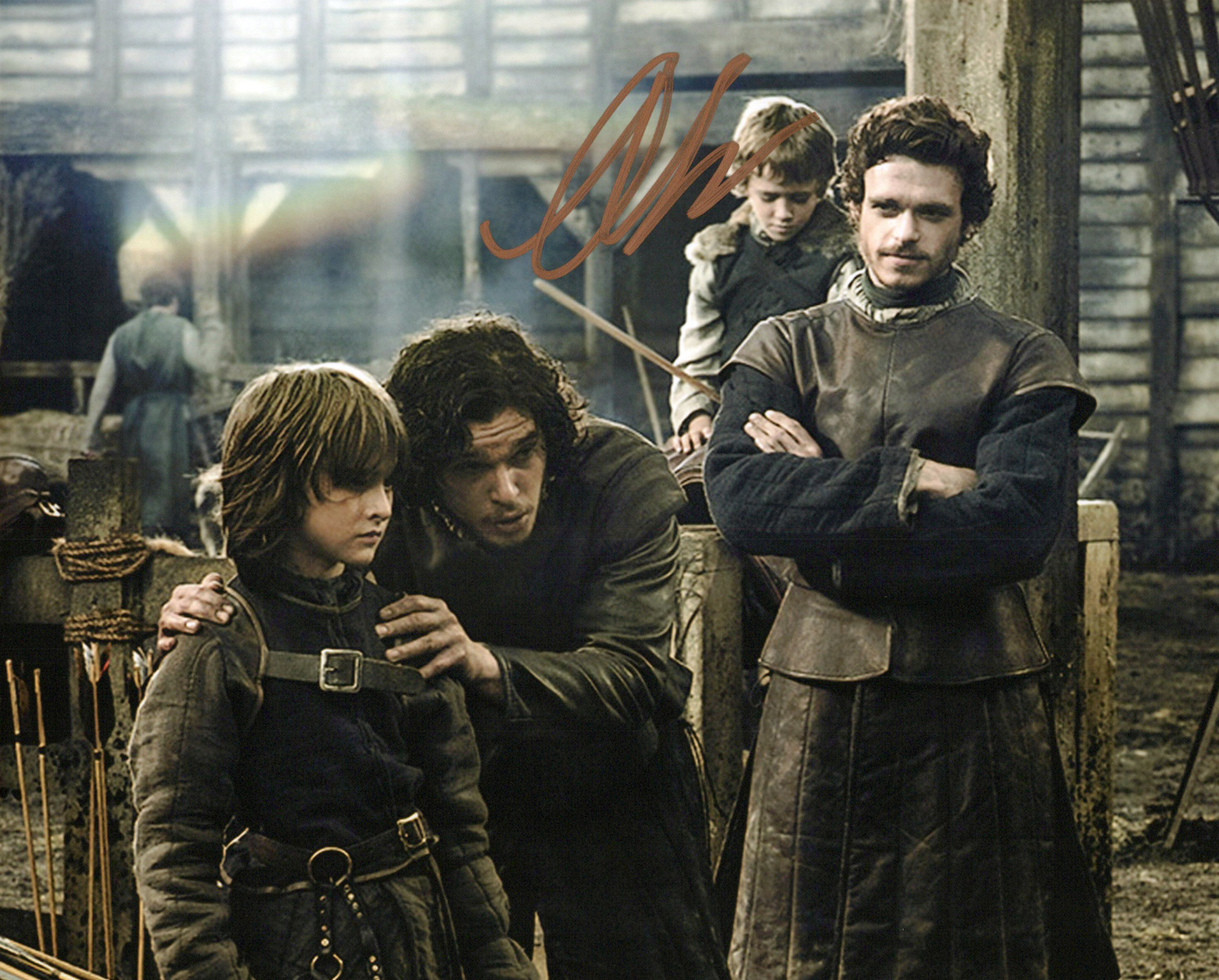 Art Parkinson Original Autogramm auf Foto 20x25cm - Game of Thrones