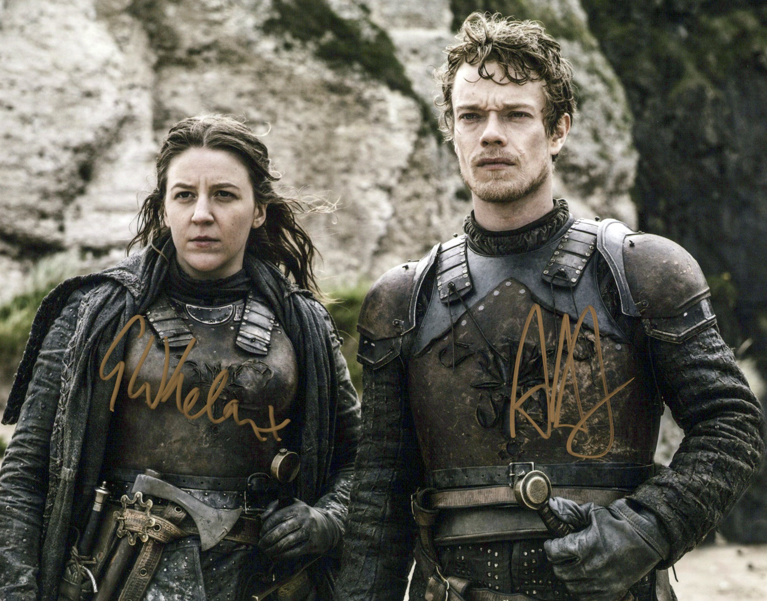 Alfie Allen & Gemma Whelan Original Autogramm auf Foto 20x25cm - Game of Thrones