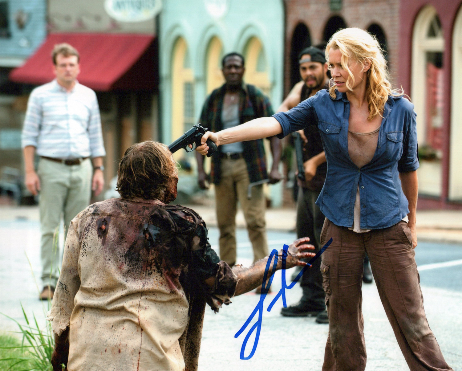 Laurie Holden Original Autogramm auf Foto 20x25cm - The Walking Dead