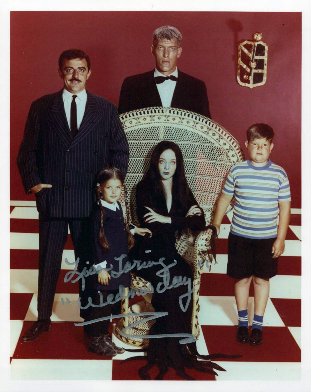 Lisa Loring Original Autogramm auf Foto 20x25cm - The Addams Family