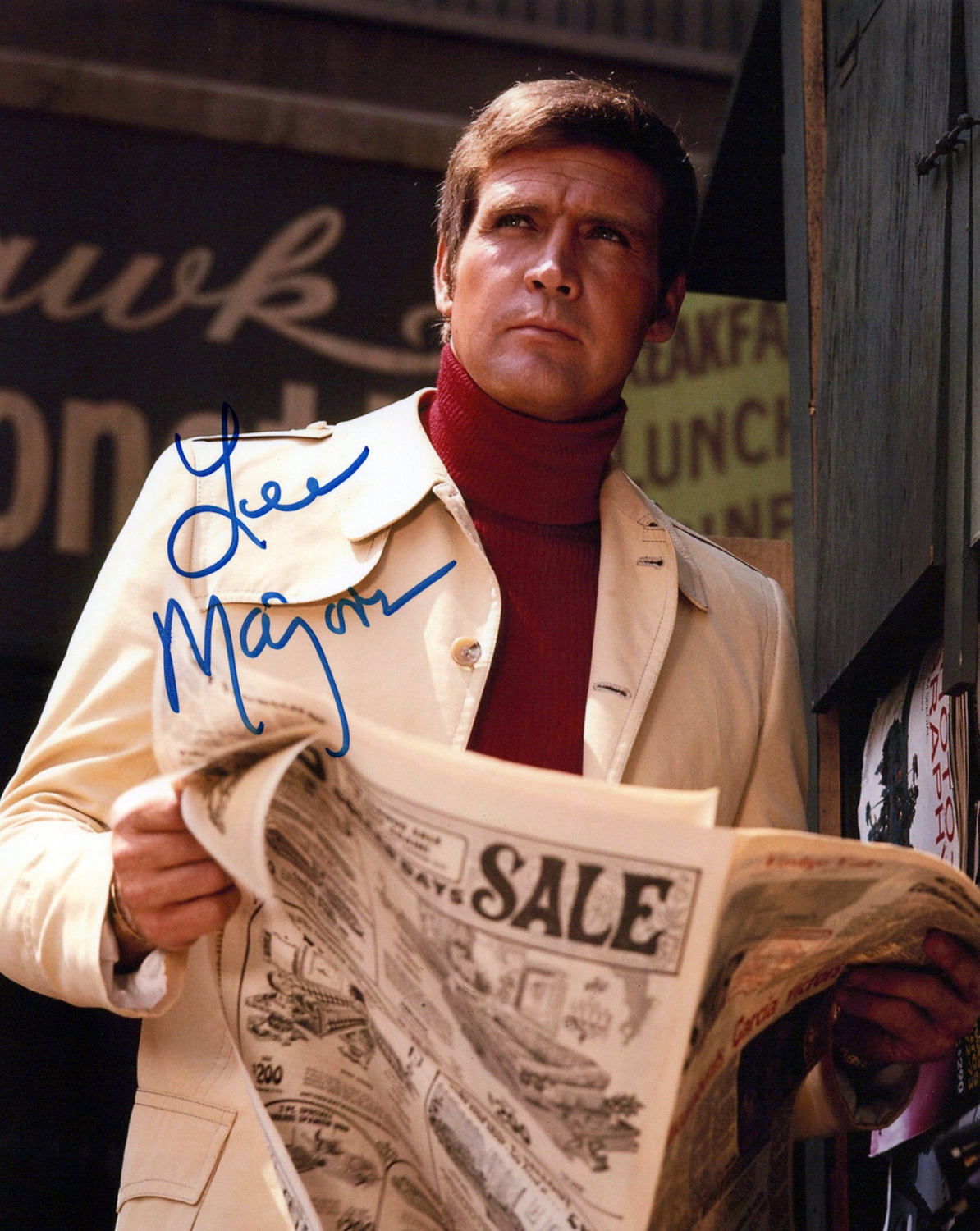 Lee Majors Original Autogramm auf Foto 20x25cm - Six Million Dollar Man