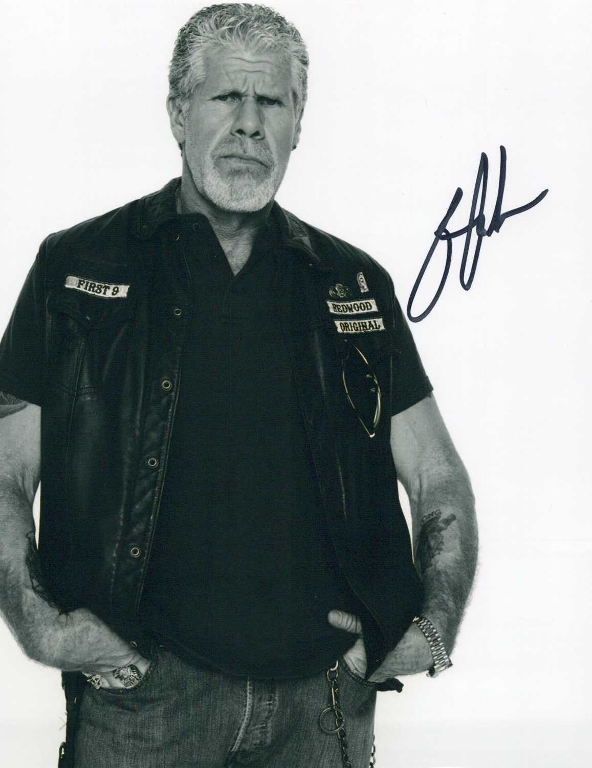 Ron Perlman Original Autogramm auf Foto 20x25cm  - Sons of Anarchy