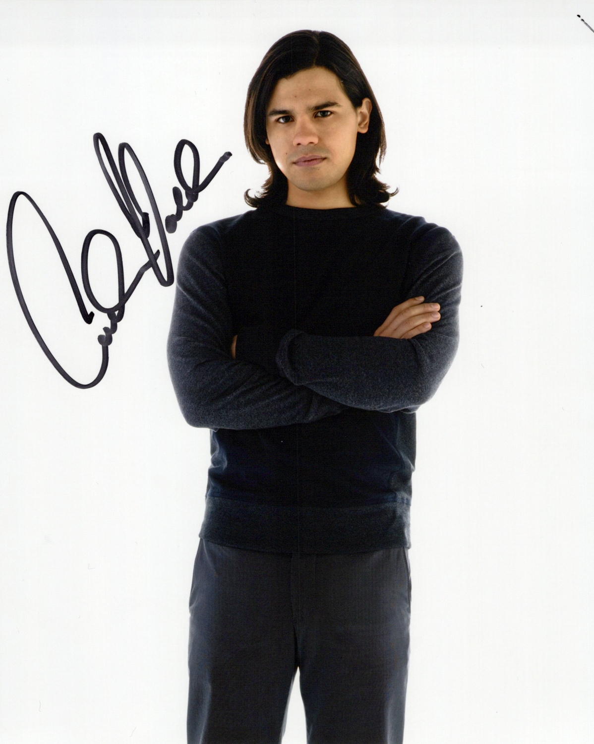 Carlos Valdes Original Autogramm auf Foto 20x25cm -   The Flash