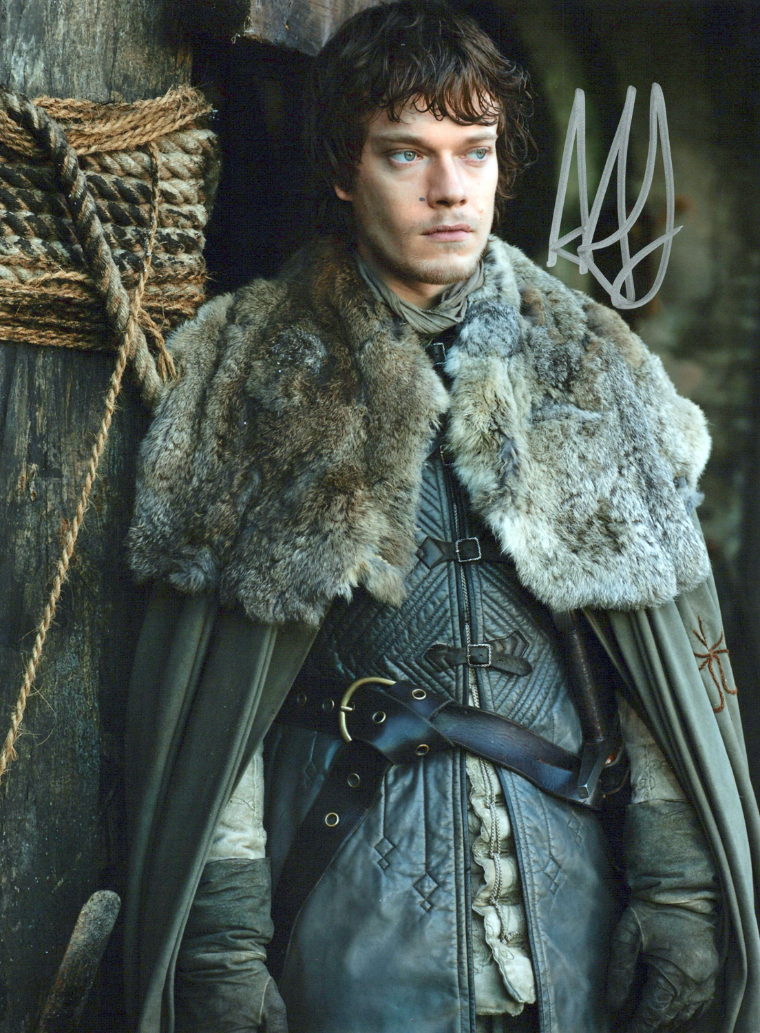 Alfie Allen Original Autogramm auf Foto 20x25cm - Game of Thrones