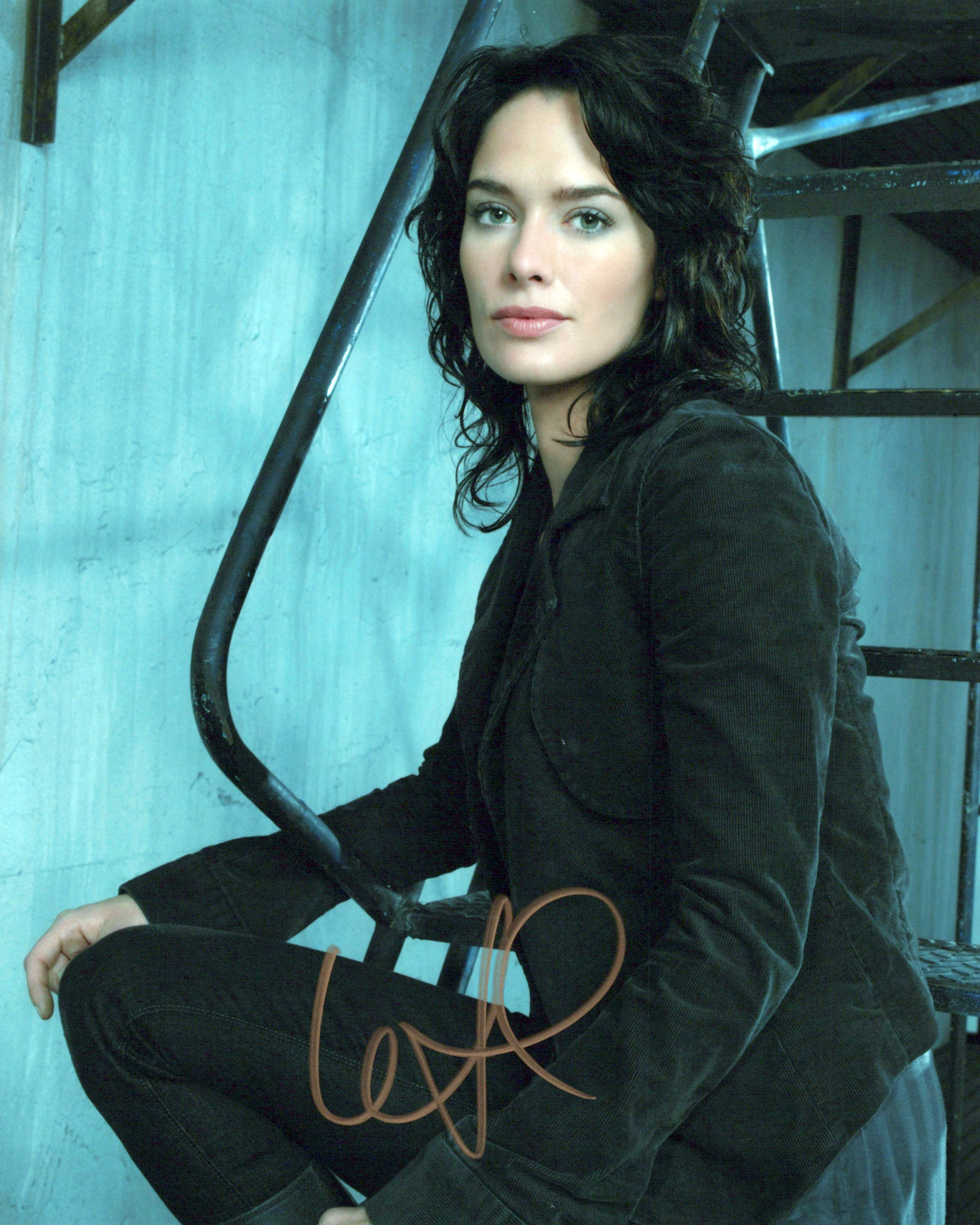 Lena Headey  Autogramm auf Foto 20x25cm - Terminator - The Sarah Connor Chronicles