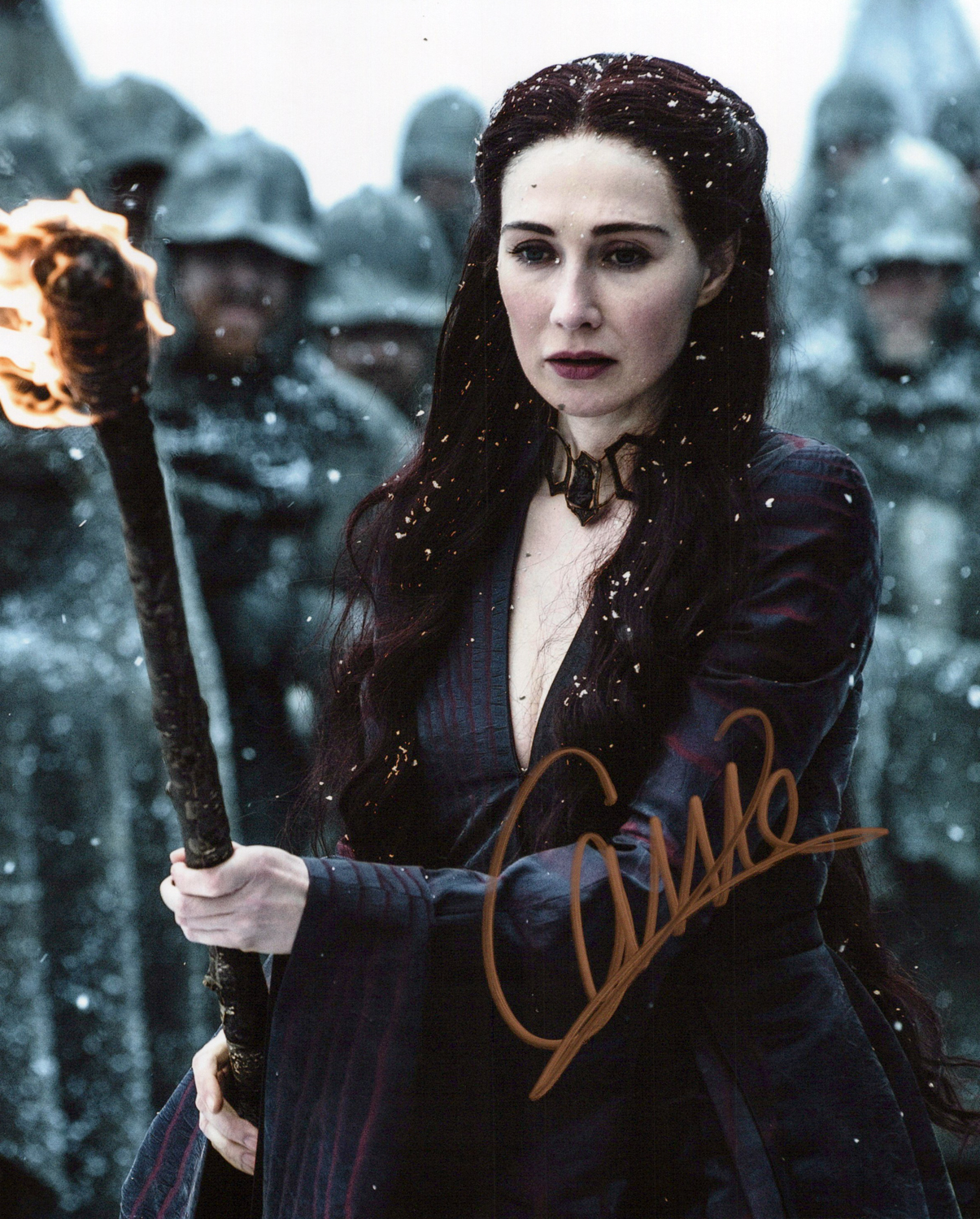 Carice Van Houten Original Autogramm auf Foto 20x25cm - Game of Thrones