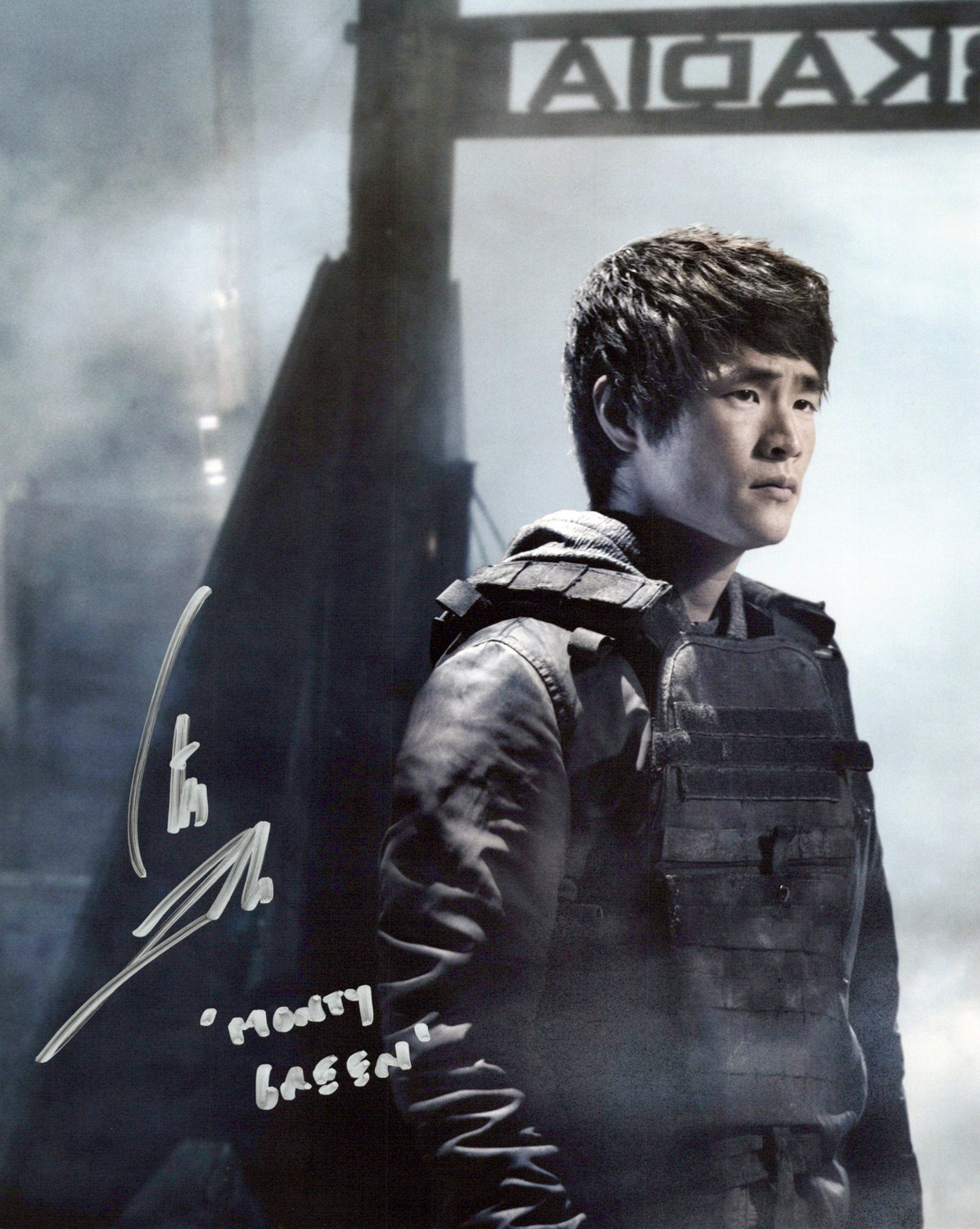 Christopher Larkin Original Autogramm auf Foto 20x25cm - The 100