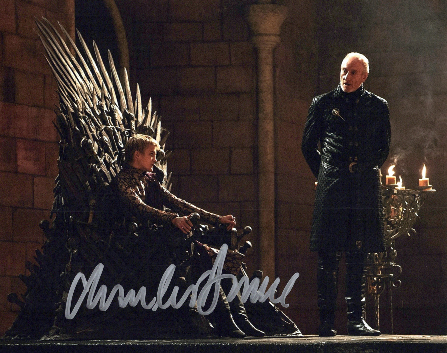 Charles Dance Original Autogramm auf Foto 20x25cm - Game of Thrones