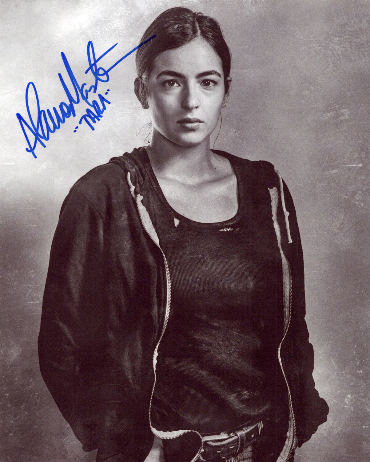 Alanna Masterson Original Autogramm auf Foto 20x25cm - The Walking Dead