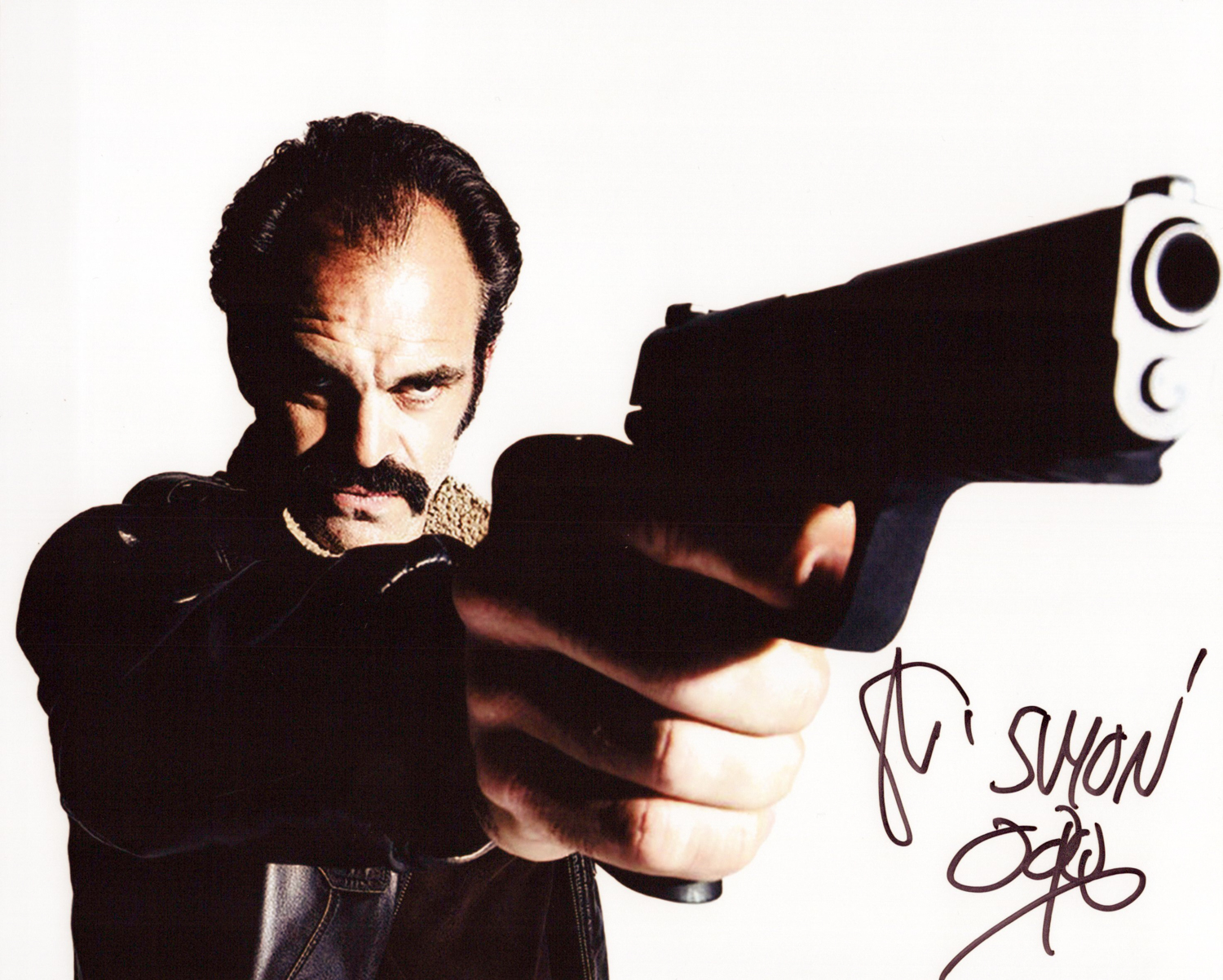 Steven Ogg Original Autogramm auf Foto 20x25cm  - The Walking Dead