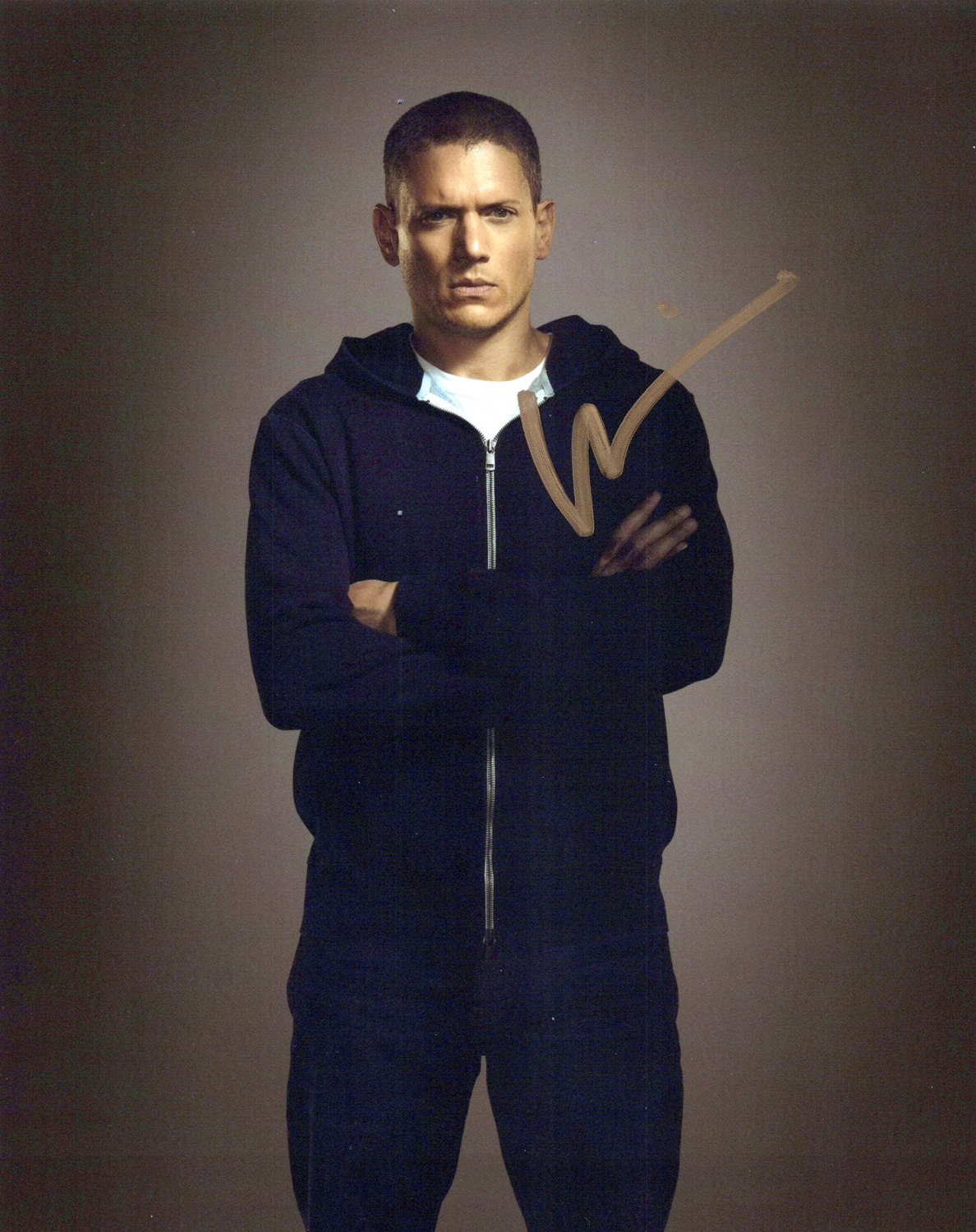 Wentworth Miller Original Autogramm auf Foto 20x25cm  - Prison Break