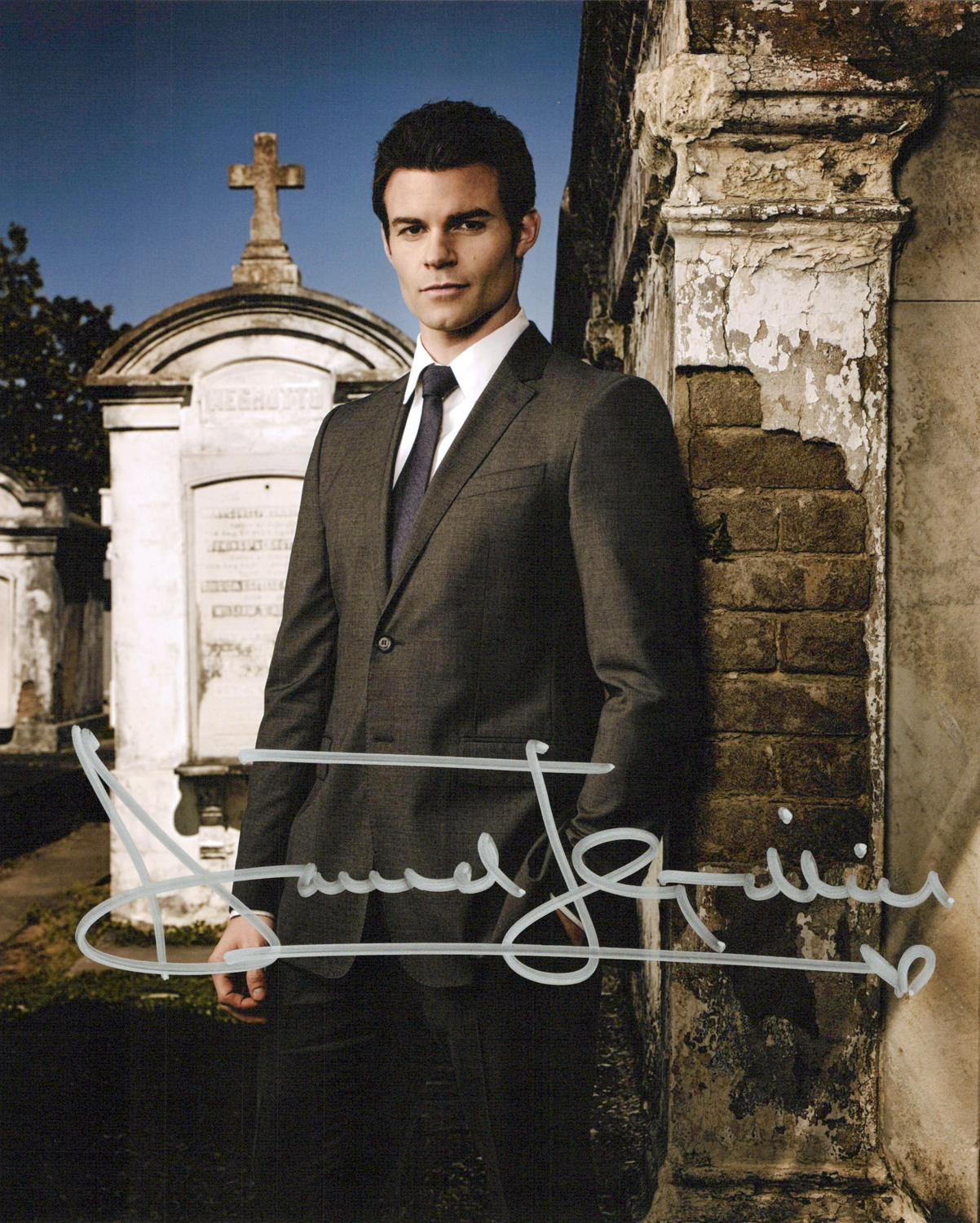 Daniel Gillies Original Autogramm auf Foto 20x25cm - The Originals/ The Vampire Diaries