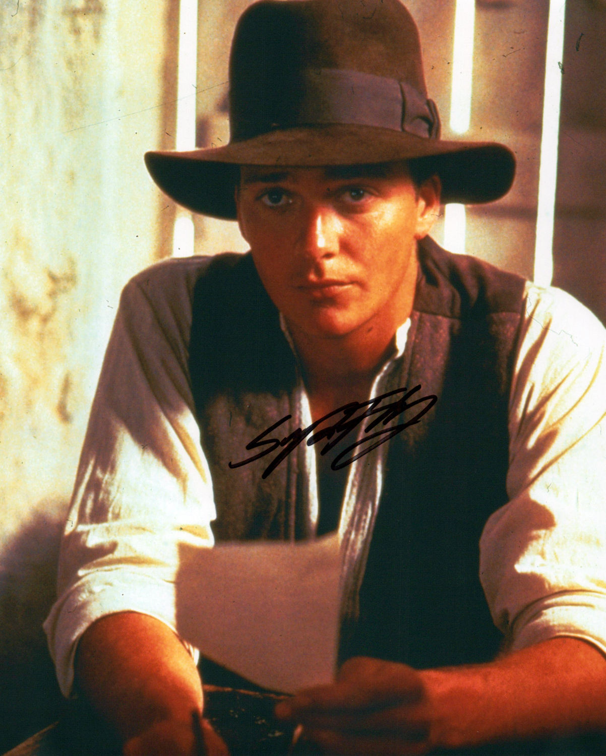 Sean Patrick Flanery Original Autogramm auf Foto 20x25cm  - The Young Indiana Jones Chronicles
