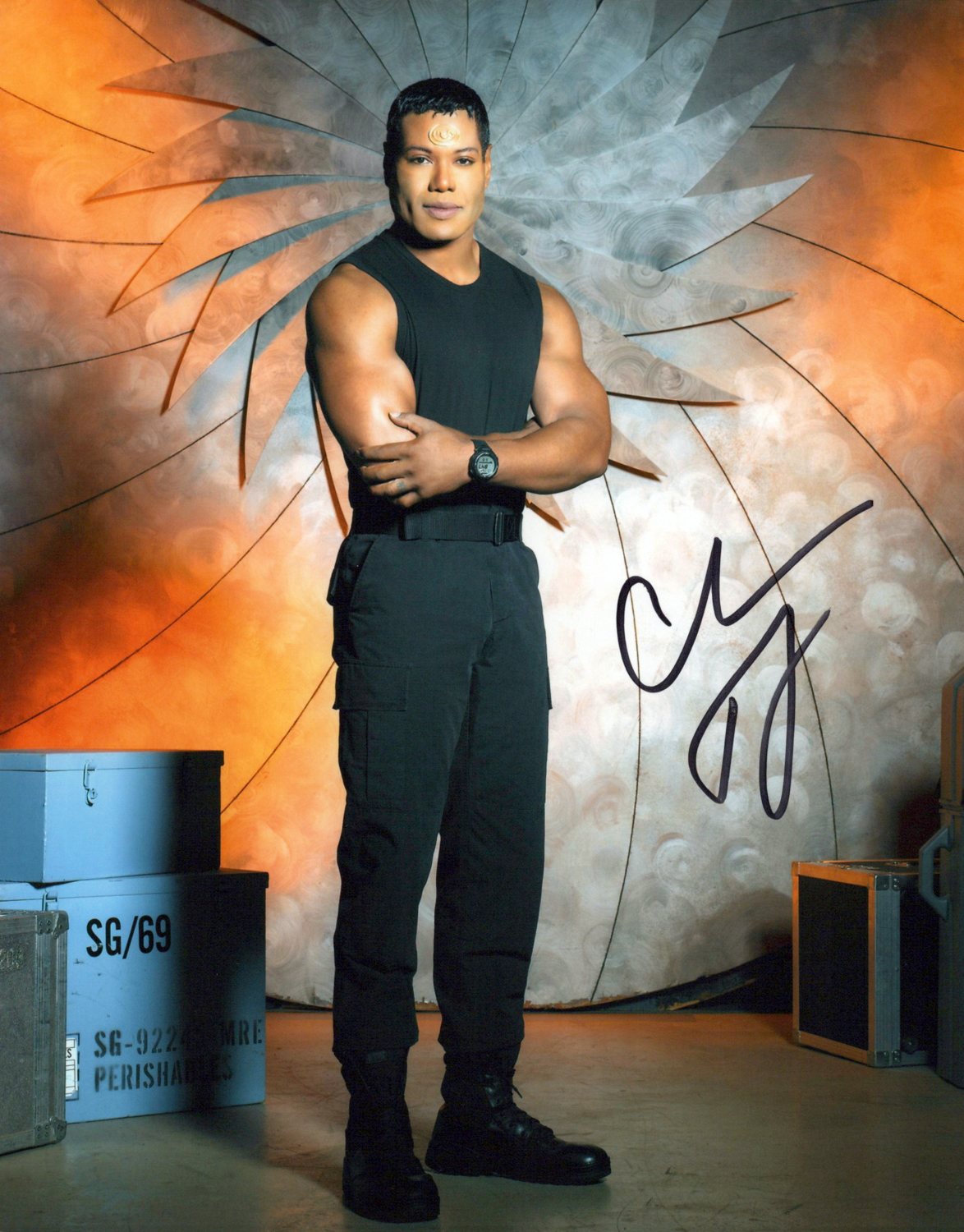 Chris Judge Original Autogramm auf Foto 20x25cm - Stargate