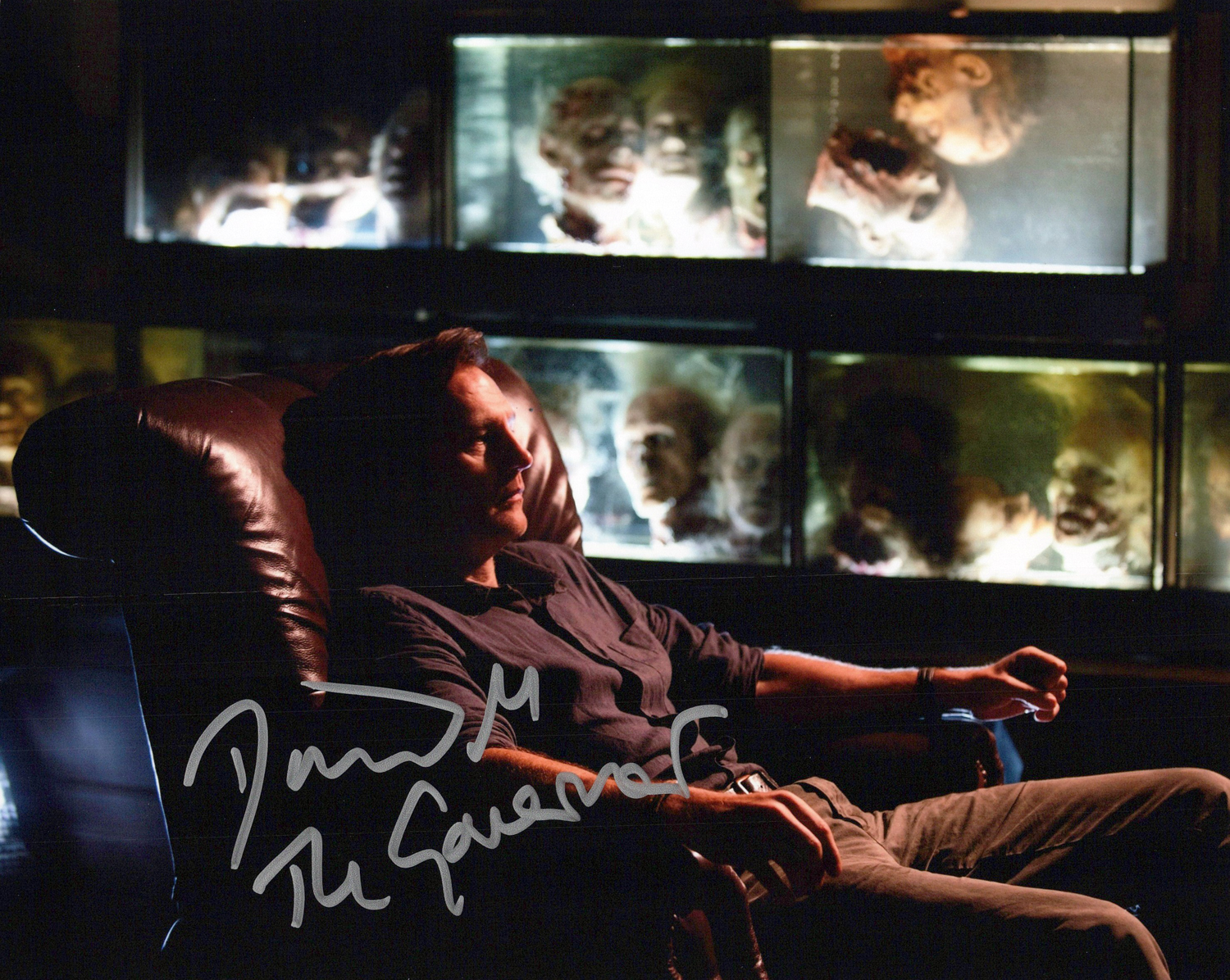 David Morrissey Original Autogramm auf Foto 20x25cm - The Walking Dead