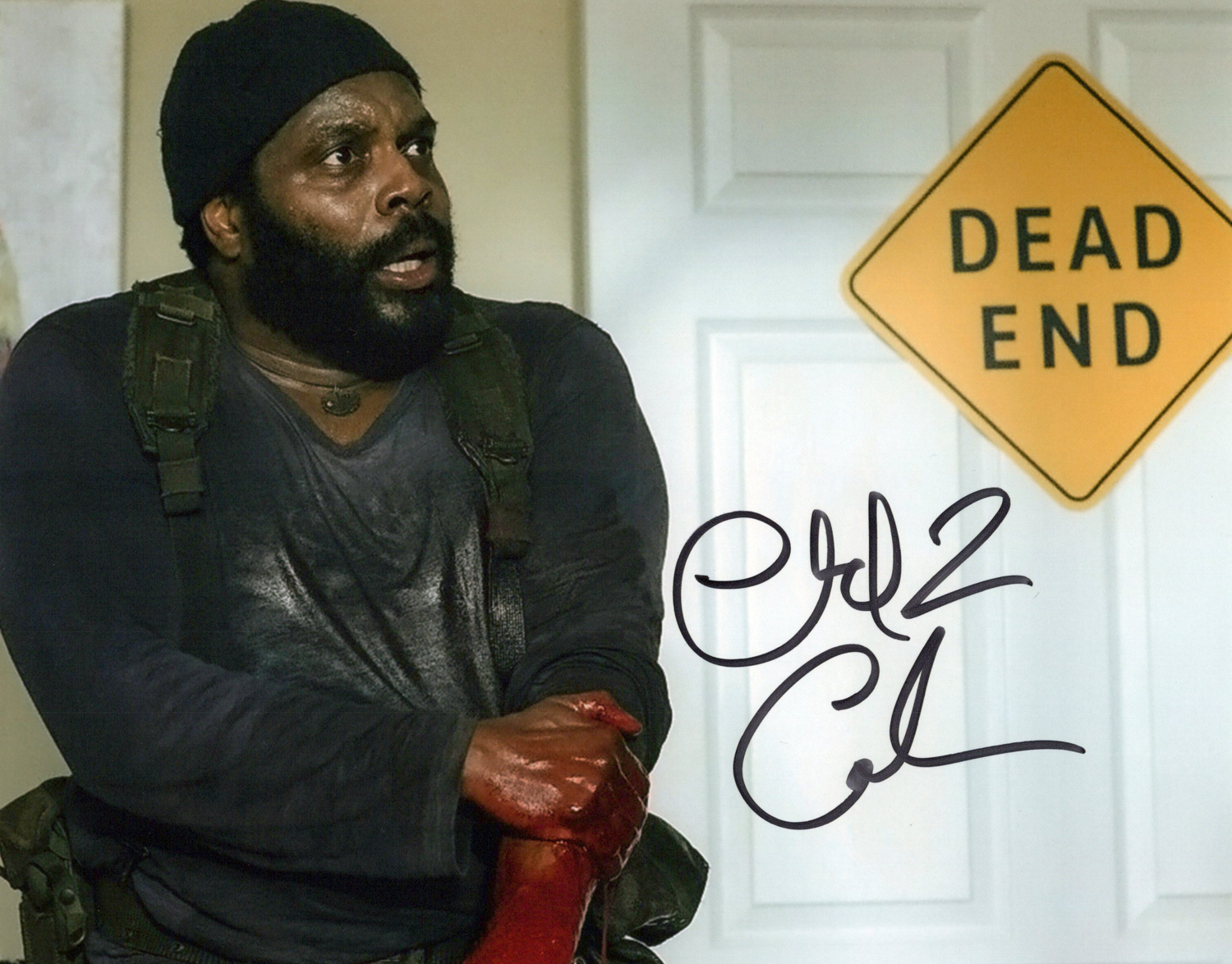 Chad Coleman Original Autogramm auf Foto 20x25cm - The Walking Dead