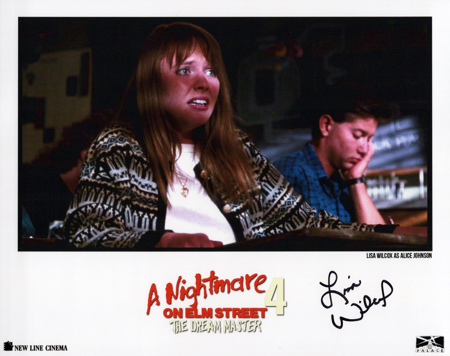 Lisa Wilcox Original Autogramm auf Foto 20x25cm - Nightmare on Elm Street