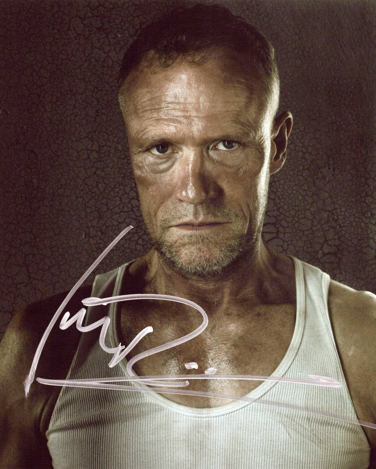 Michael Rooker Original Autogramm auf Foto 20x25cm - The Walking Dead