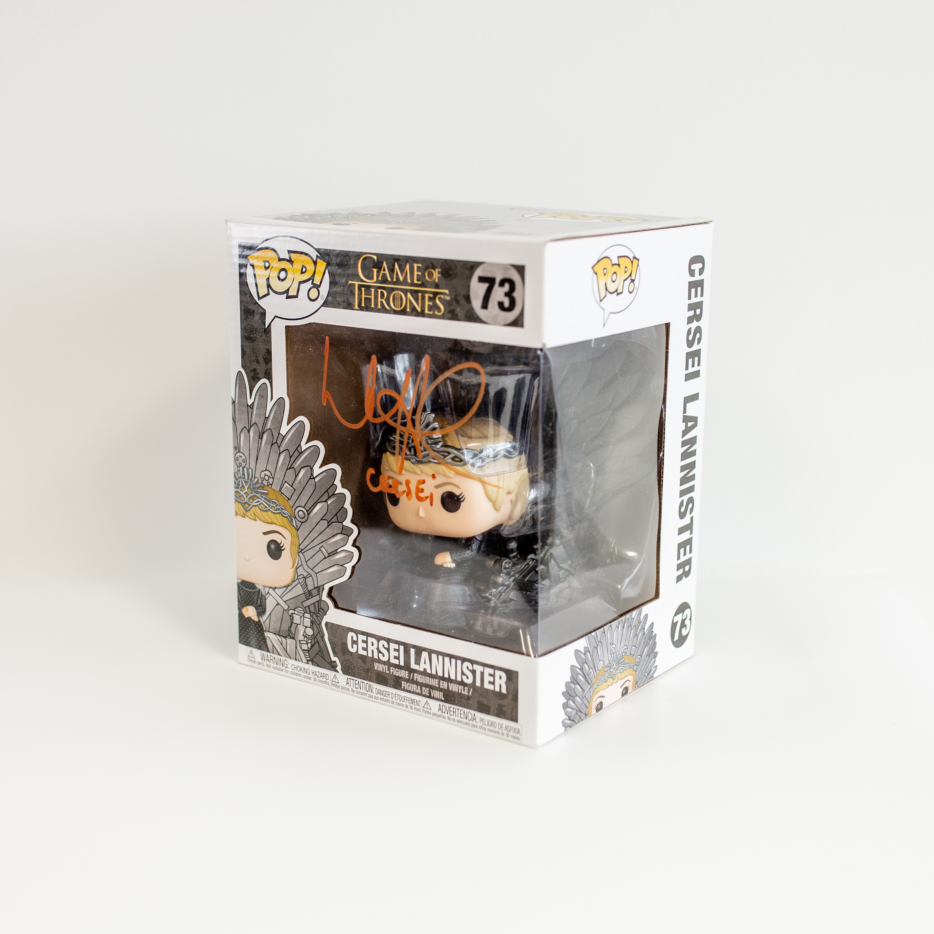 Lena Headey Original Autogramm auf Funko POP! Game of Thrones - Cersei Lannister (Braune Signatur)